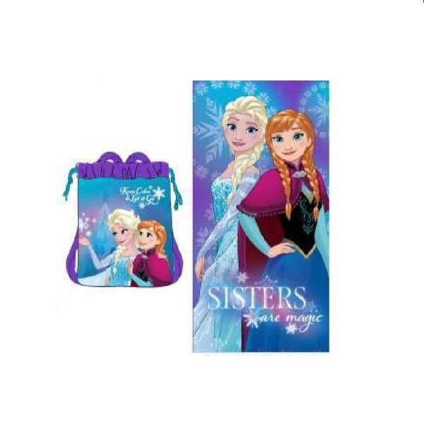 Disney Frozen 2 Piece 100% Cotton Beach Towel Set by Linen Depot Direct